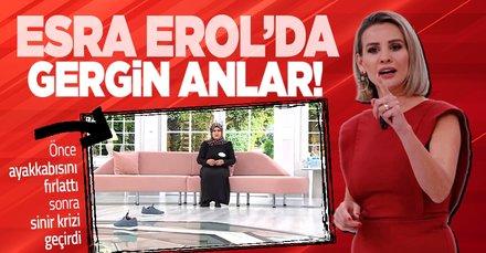 Esra Erol'da gergin anlar! Eşinin kendisine 'deli muamelesi' yaptığını söyledi canlı yayında sinir krizi geçirdi