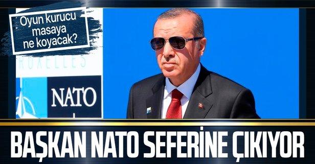 Başkan Erdoğan NATO seferine çıkıyor