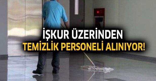 İŞKUR temizlik personeli alıyor! İşte başvuru şartları