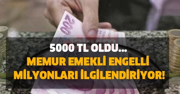 SGK, SSK'lı, EYT'li, BAĞ-KUR'lu, memur, emekli, engelli milyonları ilgilendiriyor! 5000 TL oldu...