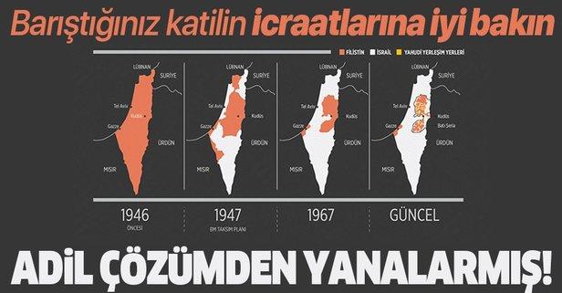 Filistin meselesinin adil çözümünden yanaymış