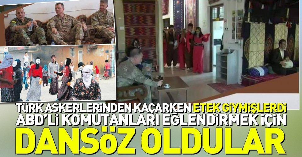YPGli teröristler ABDli komutanlar için dansöz oldu