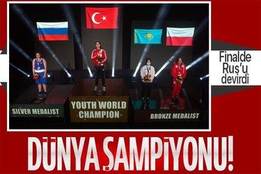 Milli sporcu Büşra Işıldar dünya gençler boks şampiyonu oldu