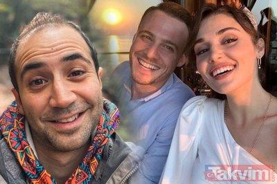 Kerem Bursin ile Hande Erçel'in olay yaratan fotoğrafını Sarp Bozkurt fena ti'ye aldı! 'Kerem'le sadece...'