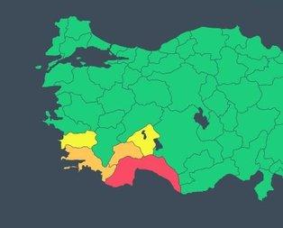Antalya'da kırmızı kodlu uyarı kaldırıldı