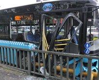 Halk otobüsü kaza yaptı: Yaralılar var