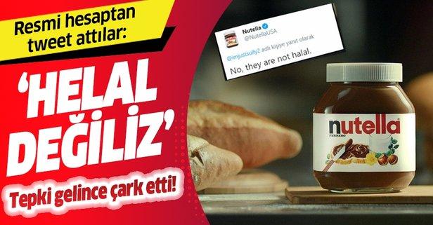 Nutella'nın resmi hesabından tweet: Helal değiliz!