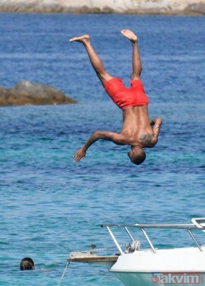 Beşiktaşlı Boateng ve eşi Melissa Satta tatilde aşk tazeledi! Herkesi eşini konuştu