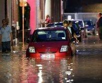 Belçika'da sokaklar sele teslim oldu