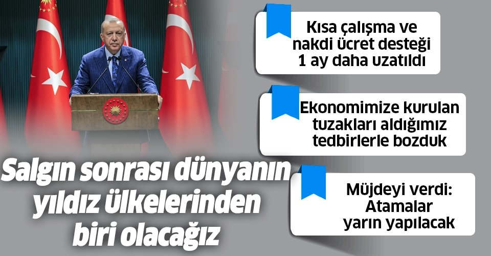 Son dakika: Başkan Erdoğan'dan Kabine Toplantısı sonrası önemli açıklamalar