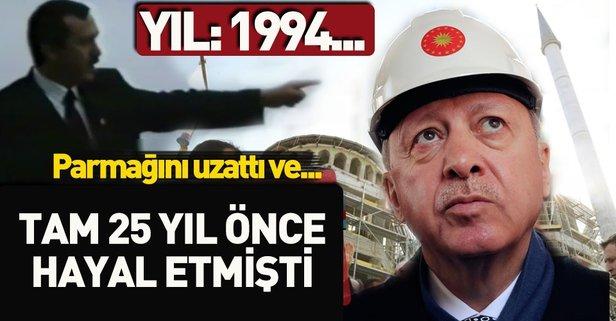 Başkan Erdoğan, 'Şuraya cami yapacağız' demişti! İşte 25 yıl önceki o görüntüler...