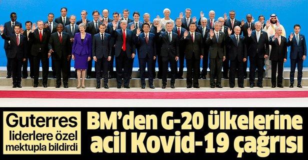 BM'den G-20 ülkelerine Kovid-19 çağrısı