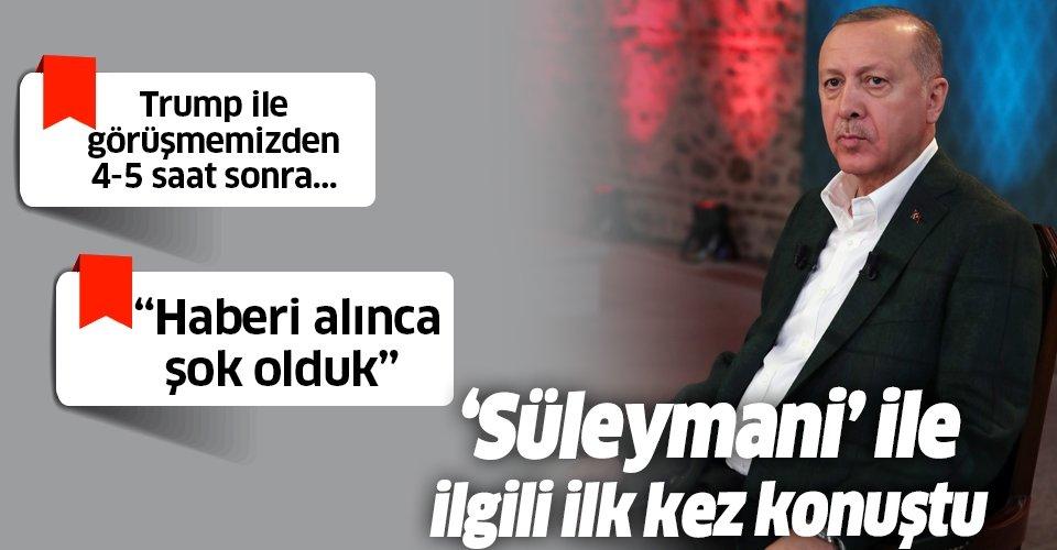 Başkan Erdoğan'dan flaş 'Süleymani' açıklaması