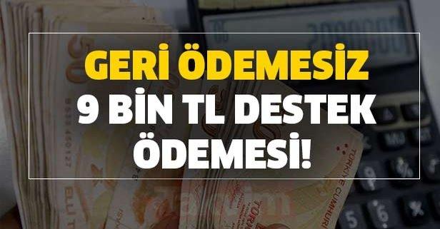 Geri ödemesiz 9 bin TL destek ödemesi başladı!