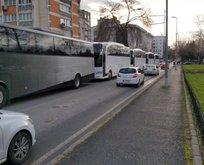 Mülteciler otobüslerle sınırlara ilerliyor!