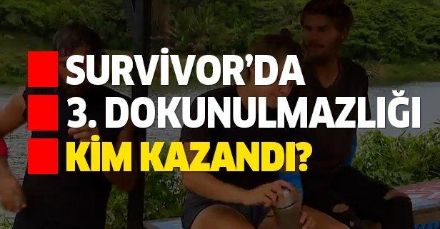 Survivor 3. dokunulmazlığı kim kazandı?