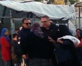 Yunan polisten yaşlı mülteci kadına hakaret dolu sözler
