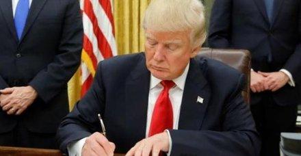 Son dakika: Trumptan kriz çıkartacak hamle: İmzaladı