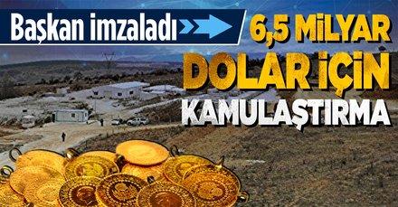 Bilecik Söğüt'te keşfedilen 3,5 milyon onsluk altın için acele kamulaştırma kararı! Başkan Erdoğan imzaladı! Değeri tam 6,5 milyar dolar