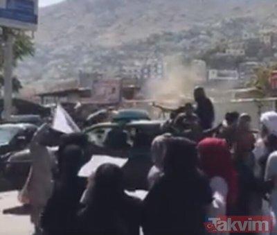 Afganistan sokaklarında kaos: Taliban karşıtı protestolarda kan donduran görüntü! Afgan kadın gizlice çekti...