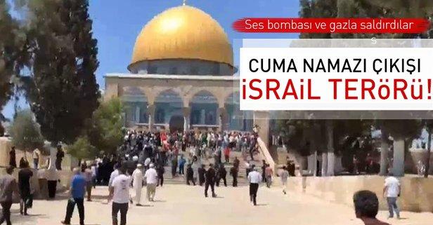 Cuma namazı çıkışı İsrail terörü!