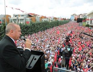 Başkan Recep Tayyip Erdoğan'a Sancaktepe'de yoğun ilgi