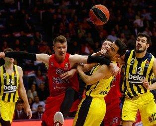 Fenerbahçe Beko Rusya'da mağlup! CSKA Moskova 88-70 Fenerbahçe Beko