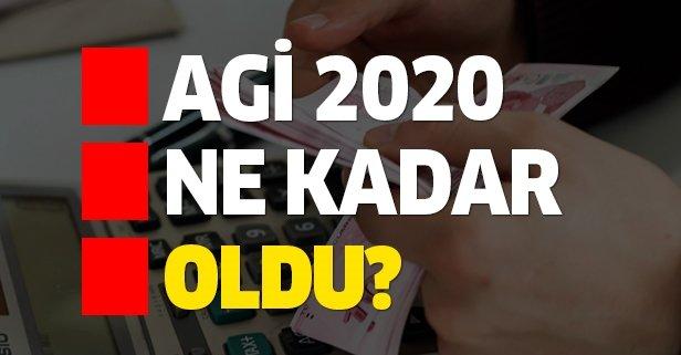 AGİ 2020 ne kadar oldu?