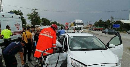 Konya'da feci kaza! Çok sayıda yaralı var