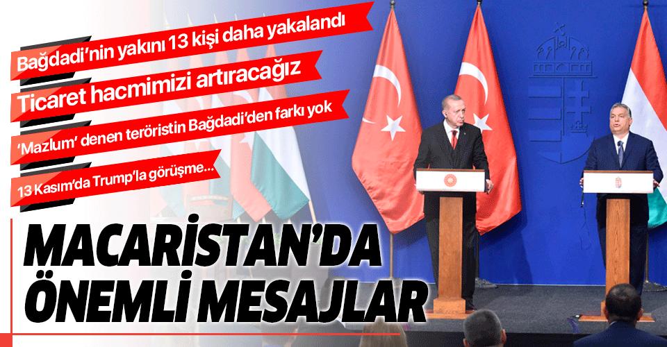 Başkan Erdoğan ile Macaristan Başbakanı Viktor Orban'dan ortak basın toplantısı