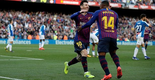 Barcelona Espanyol'u iki golle devirdi: 2-0