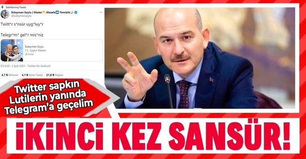 Twitter Bakan Soylu'ya yine sansür uyguladı