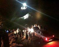 Erzincan'da araç nehre düştü!