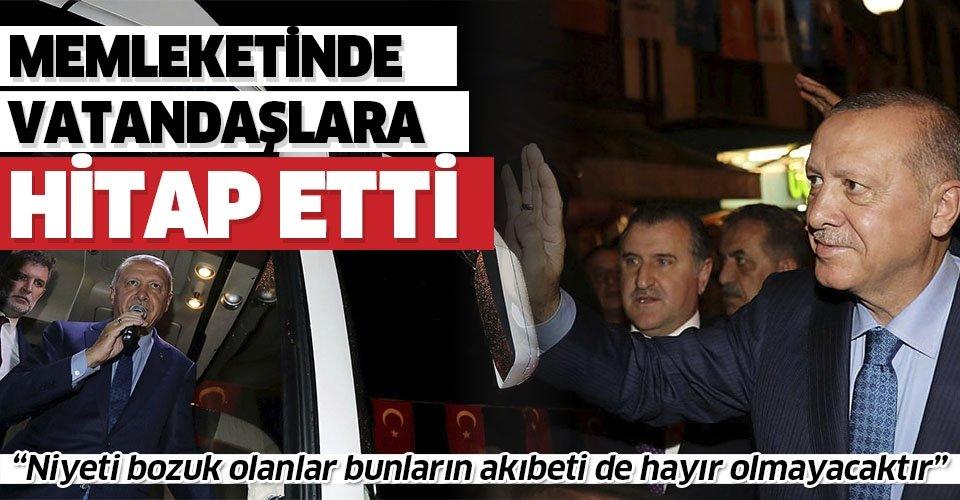 Son dakika... Başkan Erdoğan Rize'de vatandaşlarla bir araya geldi