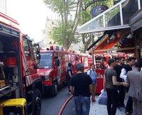 Sultanahmet'te otel yangını