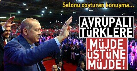Cumhurbaşkanı Erdoğan Bosna'da  Avrupalı Türklere müjdeler verdi
