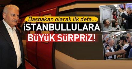 Başbakan Yıldırım metro ve Marmarayı kullandı