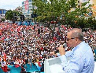 İstanbul'da Recep Tayyip Erdoğan coşkusu! Bir günde 7 miting