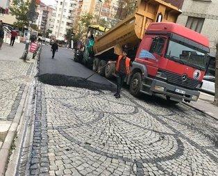 CHPli Kartal Belediyesinden skandal asfalt çalışması
