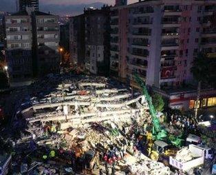 İzmir'de deprem çalışmaları havadan görüntülendi