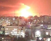 Suriyenin başkenti Şama hava saldırısı