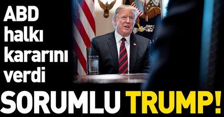 ABD halkına göre hükümetin kapanmasından Trump sorumlu