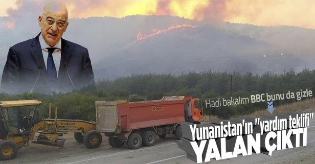 Yunanistan'ın yardım teklifi yalanmış