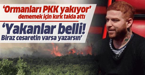 Gökhan Özoğuz ormanları PKK'nın yaktığına bir türlü inanmadı!
