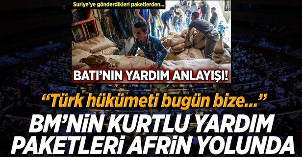 BMnin kurtlu yardım paketleri Afrin yolunda!