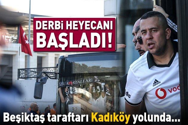 Beşiktaşlı taraftarlar derbi için yola çıktı