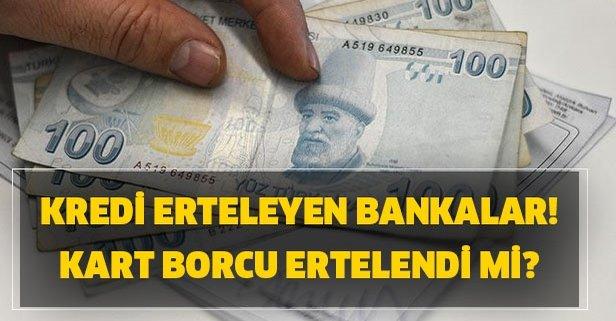 Kart sahiplerine faiz müjdesi! Kredi kartı borçları ertelendi mi?