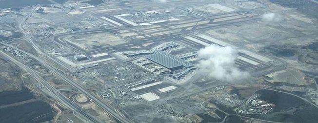 Yeni Havalimanı'nın son hali görüntülendi! İşte Yeni Havalimanı'nın havadan görünümü