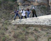 Safranboludaki taş teras büyük ilgi görüyor