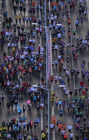 40. İstanbul Maratonundan renkli görüntüler